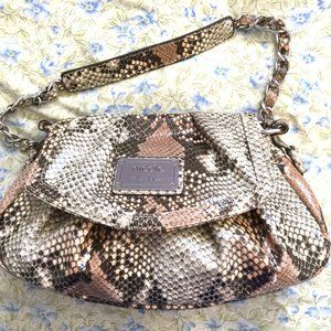Nicole Miller Faux Snakeskin Shoulder bag